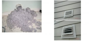 The dryer vent cleaning was taking too long to dry because of lint clogging the vent. Here is the result.